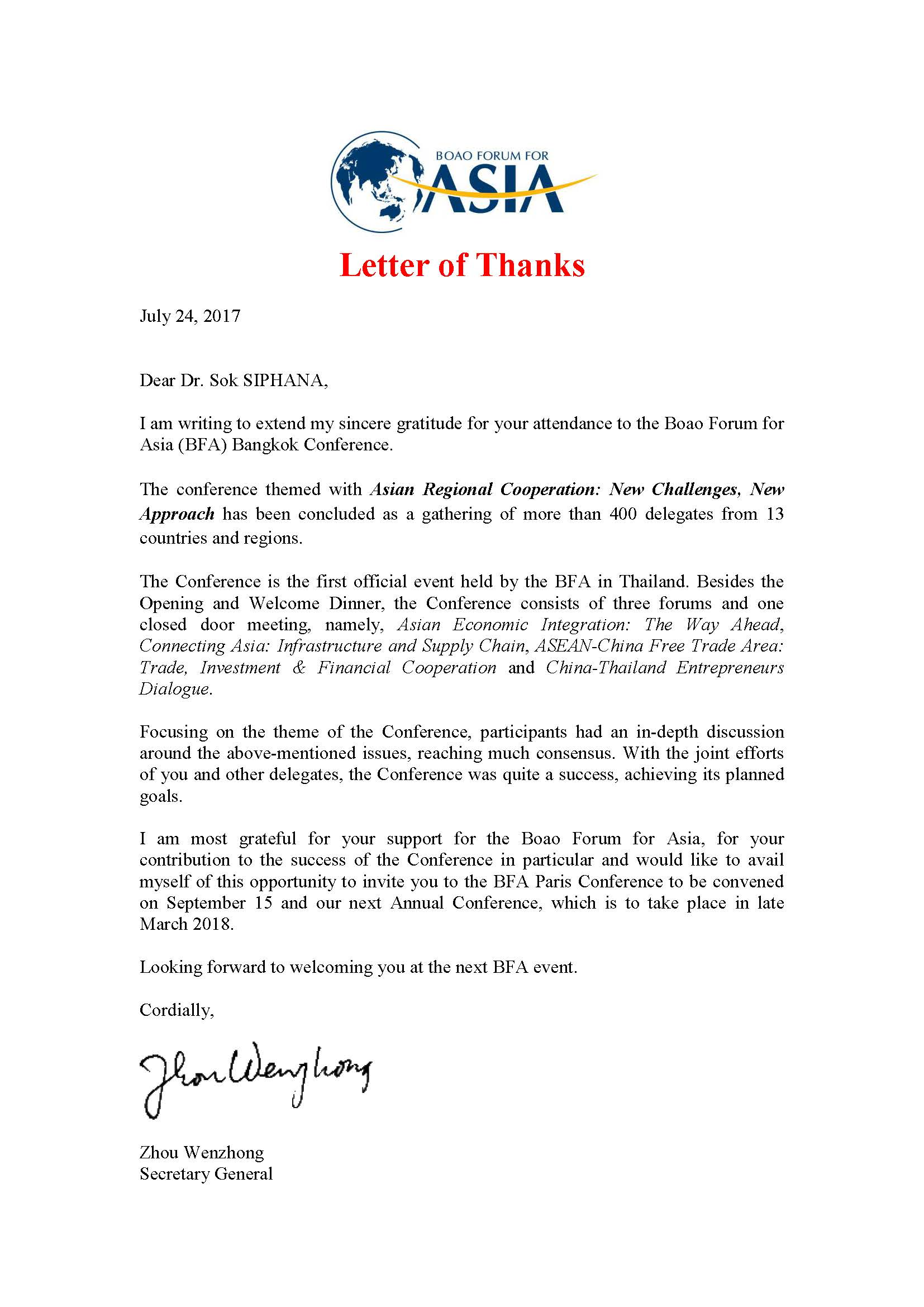 Awards appointments testimonials and appearances dr sok siphana thank you letter from boao forum for asia may 05 2017 aljukfo Gallery